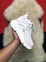 Buffalo London High White Leather