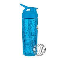 SALE - Спортивная бутылка-шейкер BlenderBottle SportMixer Signature Sleek AQUA TOPT FLOW 820мл (ORIGINAL), фото 1