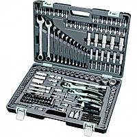 """Набор инструмента, 1/4"""", 3/8"""", 1/2"""", Cr-V, S2, усиленный кейс, 216 предметов Stels (14115)"""