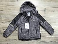 Зимняя куртка на синтепоне из водоотталкивающей ткани. Внурти мех травка. Съемный капюшон. 10 - 16 лет.