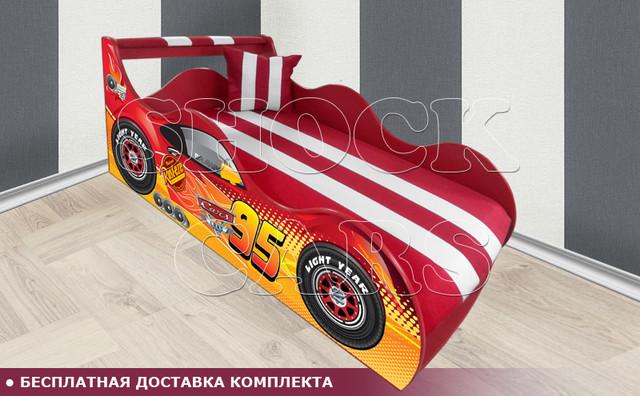 Кровать машина Тачки ШОК с матрасом в комплекте купить киев украина