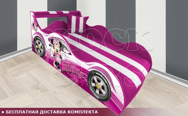 Кровать машина МИННИ МАУС  ШОК с матрасом в комплекте купить киев украина