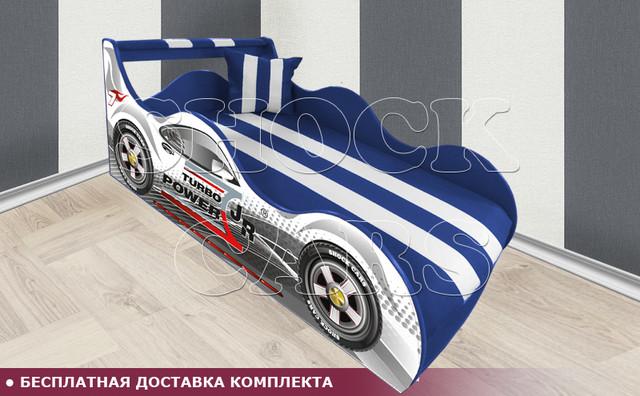Кровать машина ТУРБО ШОК с матрасом в комплекте купить киев украина