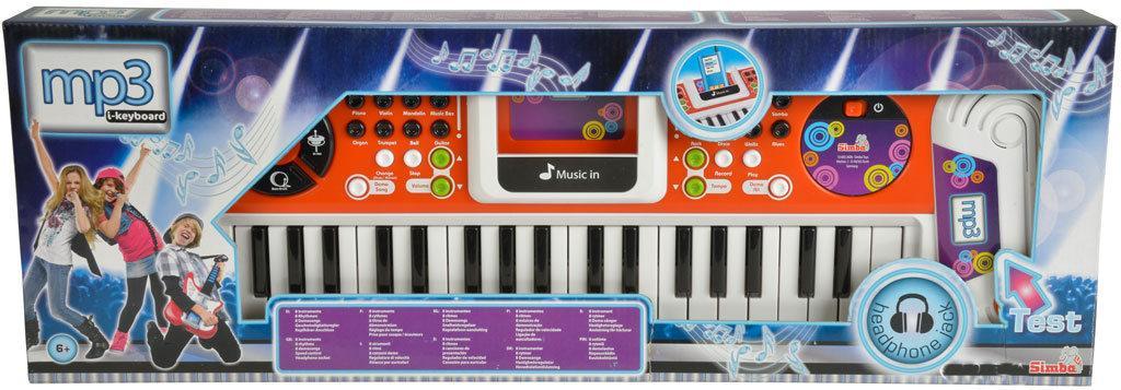 Музыкальный инструмент Simba Toys Синтезатор детский с разъемом для МР3-плеера 37 клавиш 62 см 6832606