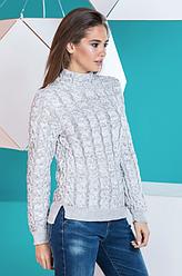 Теплый вязаный женский свитер «Мила»
