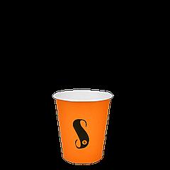 "Стакан бумажный ""S"" Оранжевый 175мл. 50шт/уп (1ящ/20уп/1000шт) (КВ71/""РОМБ"" 71)"