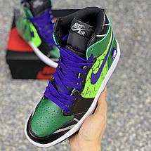 Кроссовки мужские Nike Engdgame Air Jordan Designs зеленые (Top replic), фото 2