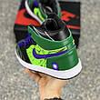 Кроссовки мужские Nike Engdgame Air Jordan Designs зеленые (Top replic), фото 4