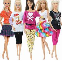 Набор одежды 5 комплектов (как на фото) для куклы Барби, шарнирной куклы