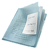 Папка-уголок Leitz Combifile, 3 секции, прозрачный, упак.3 шт. ESSELTE, фото 2