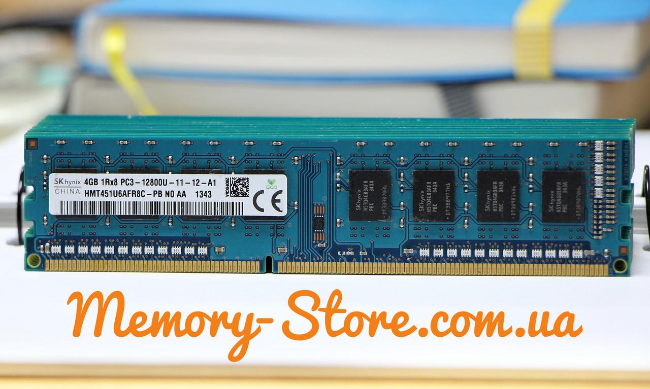 Оперативная память для ПК Hynix DDR3 4Gb 1Rx8 PC3-12800 1600MHz, Intel и AMD, б/у