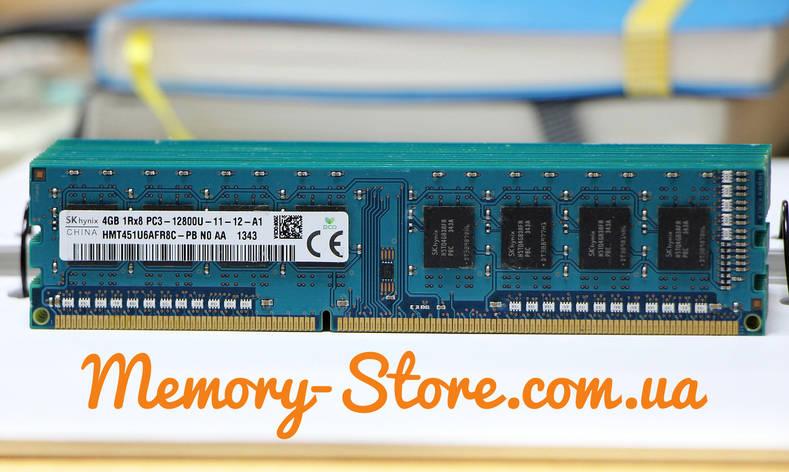 Оперативная память для ПК Hynix DDR3 4Gb 1Rx8 PC3-12800 1600MHz, Intel и AMD, б/у, фото 2