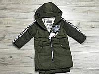 Демисезонное пальто на синтепоне для девочек. 110 и 130 рост., фото 1