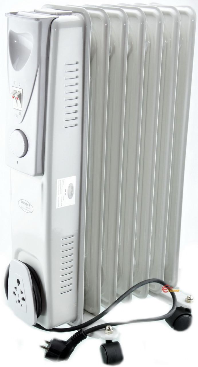 Обігрівач масляний Crownberg CB-7-S 1500W електричний Радіатор на 7 Секцій