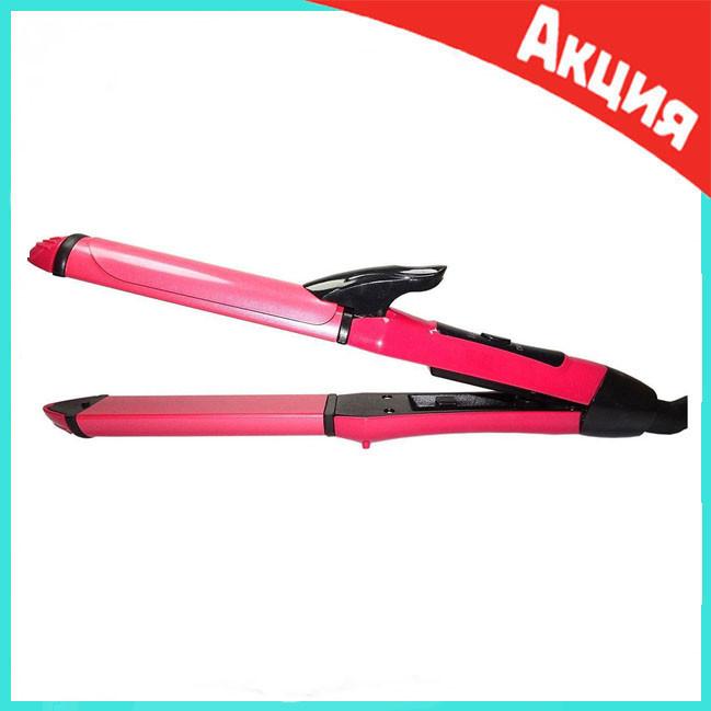 Плойка-утюжок  для волос 2 в 1 Domotec 4982 | Щипцы для волос