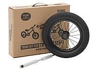 Дополнительное колесо для балансирующего велосипеда (велобега), цвет черный, Trybike, фото 1