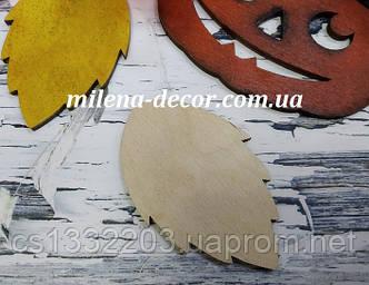Заготовка  лист осики   (фанера 4мм, 8*5см)