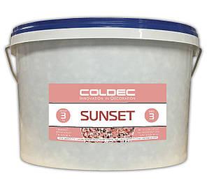 Вінілові чіпси, Sunset, відро 3 кг. Цветные чипсы для напольных покрытий. Розмір 3 (3-5 мм)., фото 2