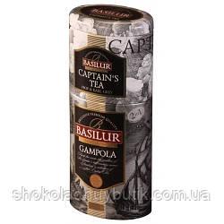Черный чай Basilur Гампола и Капитанский 2в1, коллекция Цветы и Фрукты Цейлона ж/б 50г+75г