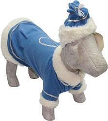 Карнавальный костюм   для собаки  Снегурочка