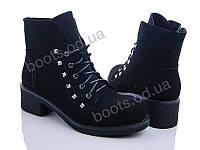 """Ботинки демисезонные женские """"Ailaifa"""" #MC3-2. р-р 34-38. Цвет черный. Оптом"""