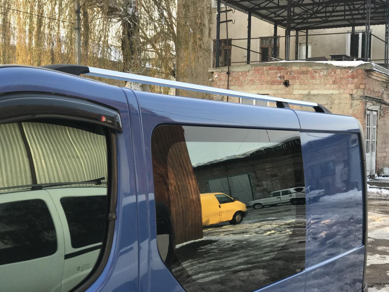 Рейлинги хром (чугунные ножки, длинная база) Renault Trafic, Opel Vivaro 2001-2014, DDU MET063