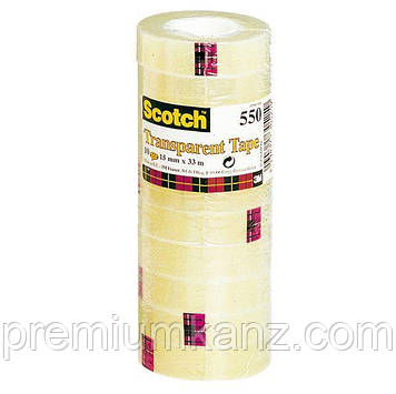 3М Scotch 550 прозора клейка стрічка 15мм х 33м