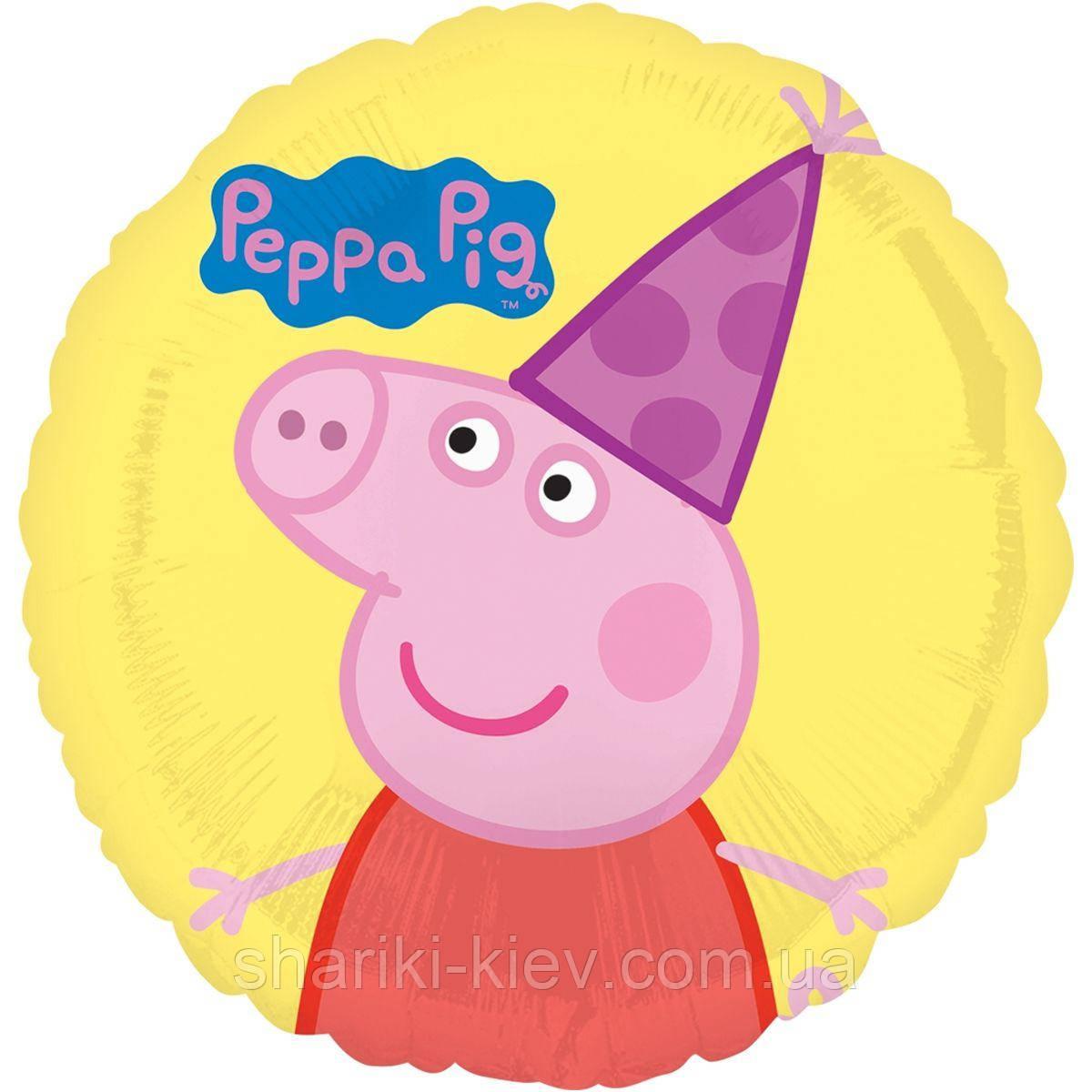 Фольгований кулька з гелієм Свинка Пеппа