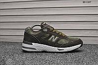 Кроссовки мужские New Balance 991 (зеленые)