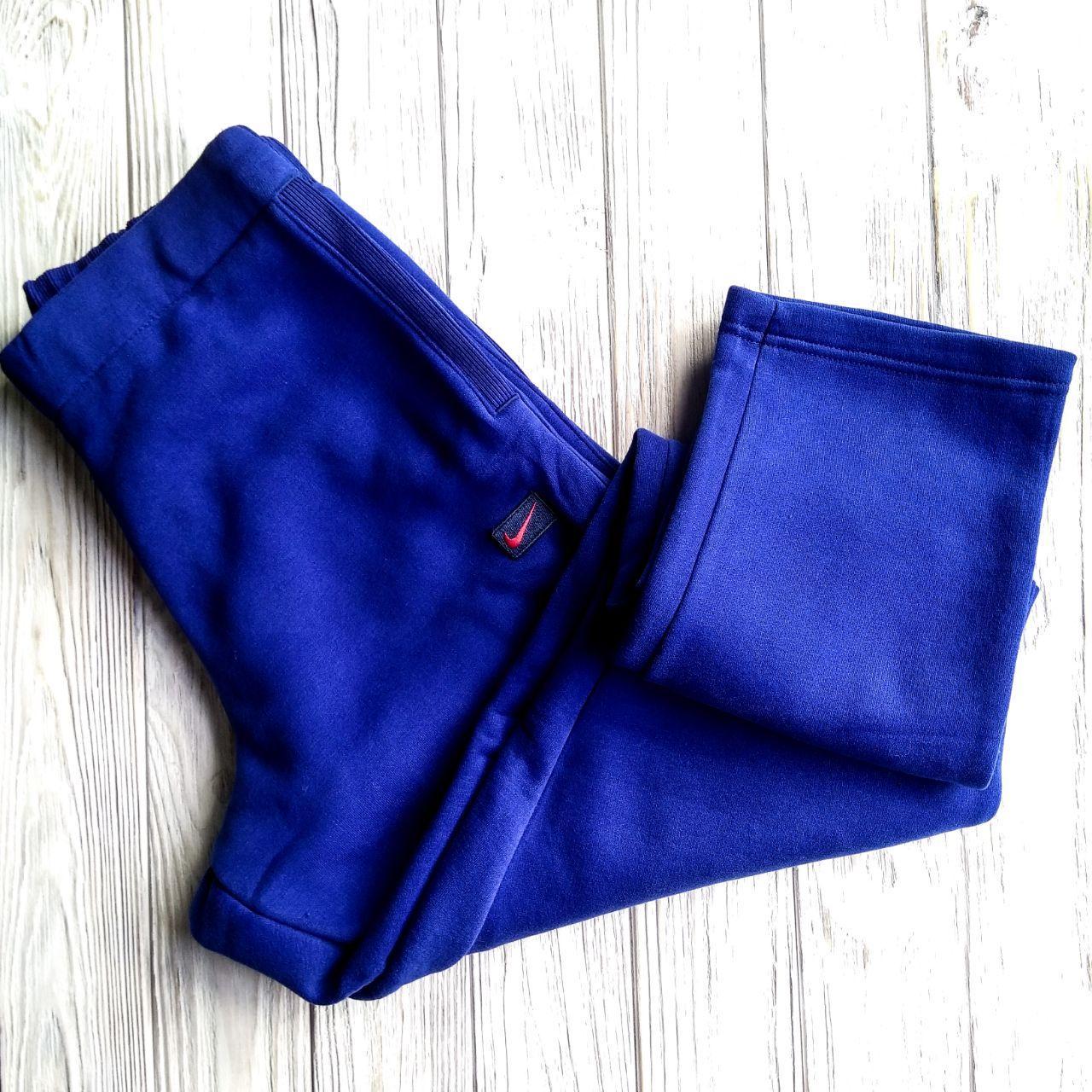 Штаны мужские спортивные Nike синий цвет (зима)