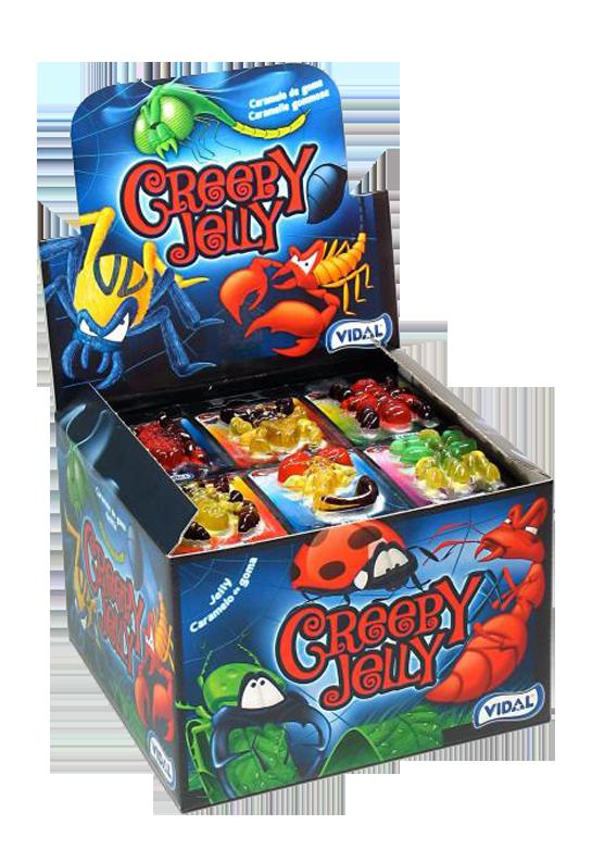 Жуйки фруктові Creepy Jelly, комахи, 11г, 11шт/ящ