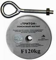 Поисковый неодимовый магнит F120, 200кг, Тритон, ООО НЕОМАГНИТ, суперкачество+трос