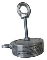 Двухсторонний поисковый магнит ТРИТОН F600*2,800кг,самый мощный Альпинистский трос, доставка БЕСПЛАТНО!