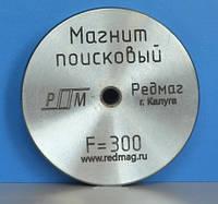 Односторонний поисковый магнит РЕДМАГ F300, ✔усилие 340кг ❄ТРОС в подарок❄