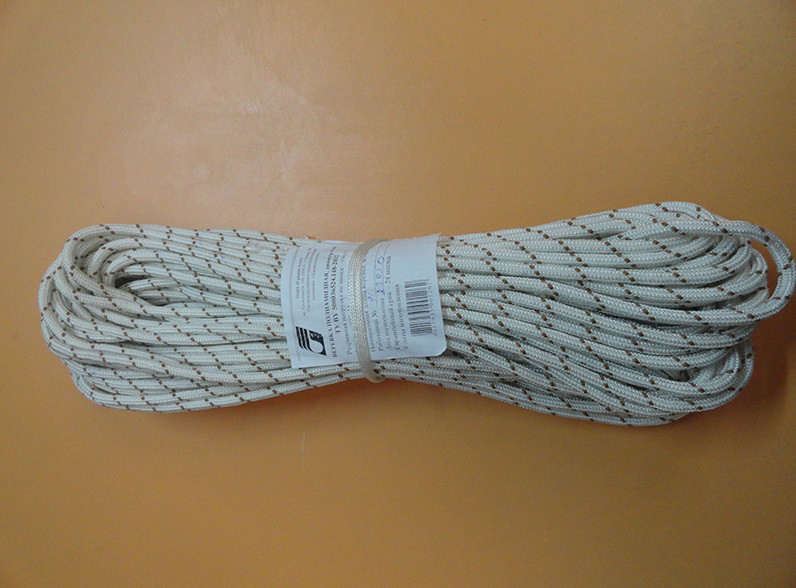 Канат, трос альпинистский, статический, полиамидный  6мм , 900кг