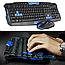 Беспроводная Клавиатура с Мышкой KEYBOARD HK-8100 в комплекте игровая блютуз, фото 3