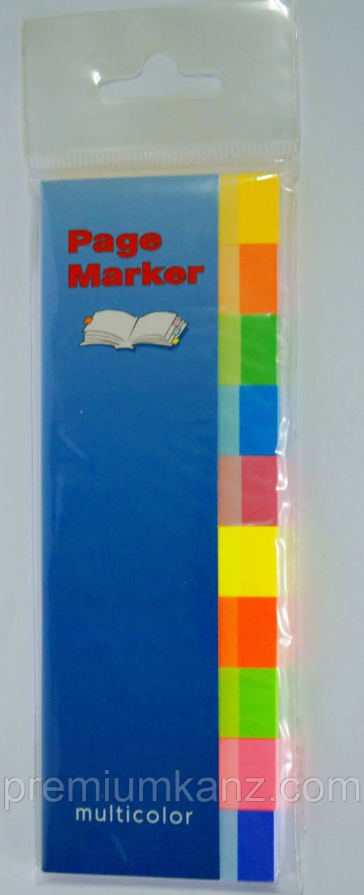 Клейкие закладки  10 цветов INFO NOTES PRINTINFORM