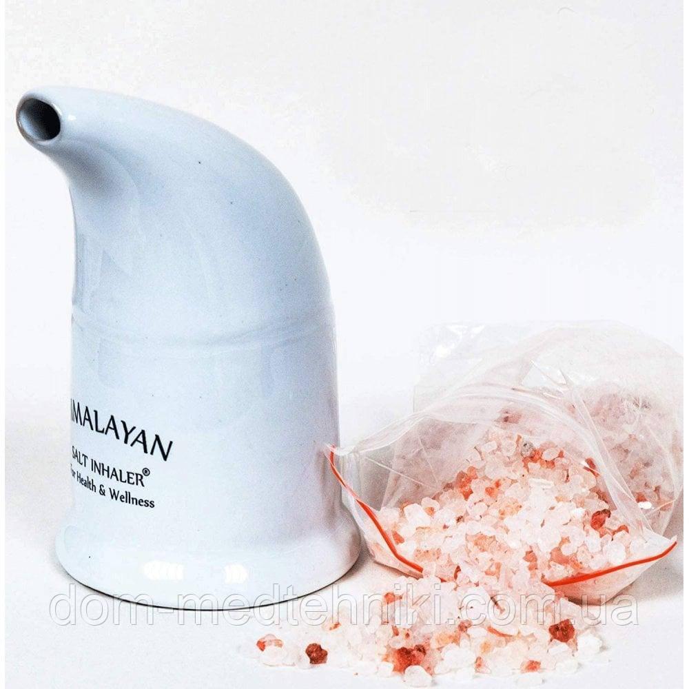 Ингалятор солевой керамический с гималайской розовой солью (HIMALAYAN SALT PIPE INHALER), фото 1