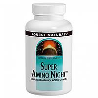 Удосконалена Аміно Формула, Super Amino Night, Source Naturals, 60 капсул