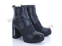 """Ботинки демисезонные женские """"Ailaifa"""" #896-11. р-р 36-41. Цвет черный. Оптом"""