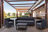 Набір садових меблів Orlando 3 Seater Set зі штучного ротанга ( Allibert by Keter ), фото 6