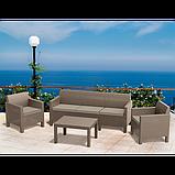Набір садових меблів Orlando 3 Seater Set зі штучного ротанга ( Allibert by Keter ), фото 9