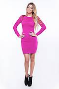 SEWEL Платье PW247 (44-46, малиновый, 60% акрил/ 30% шерсть/ 10% эластан)