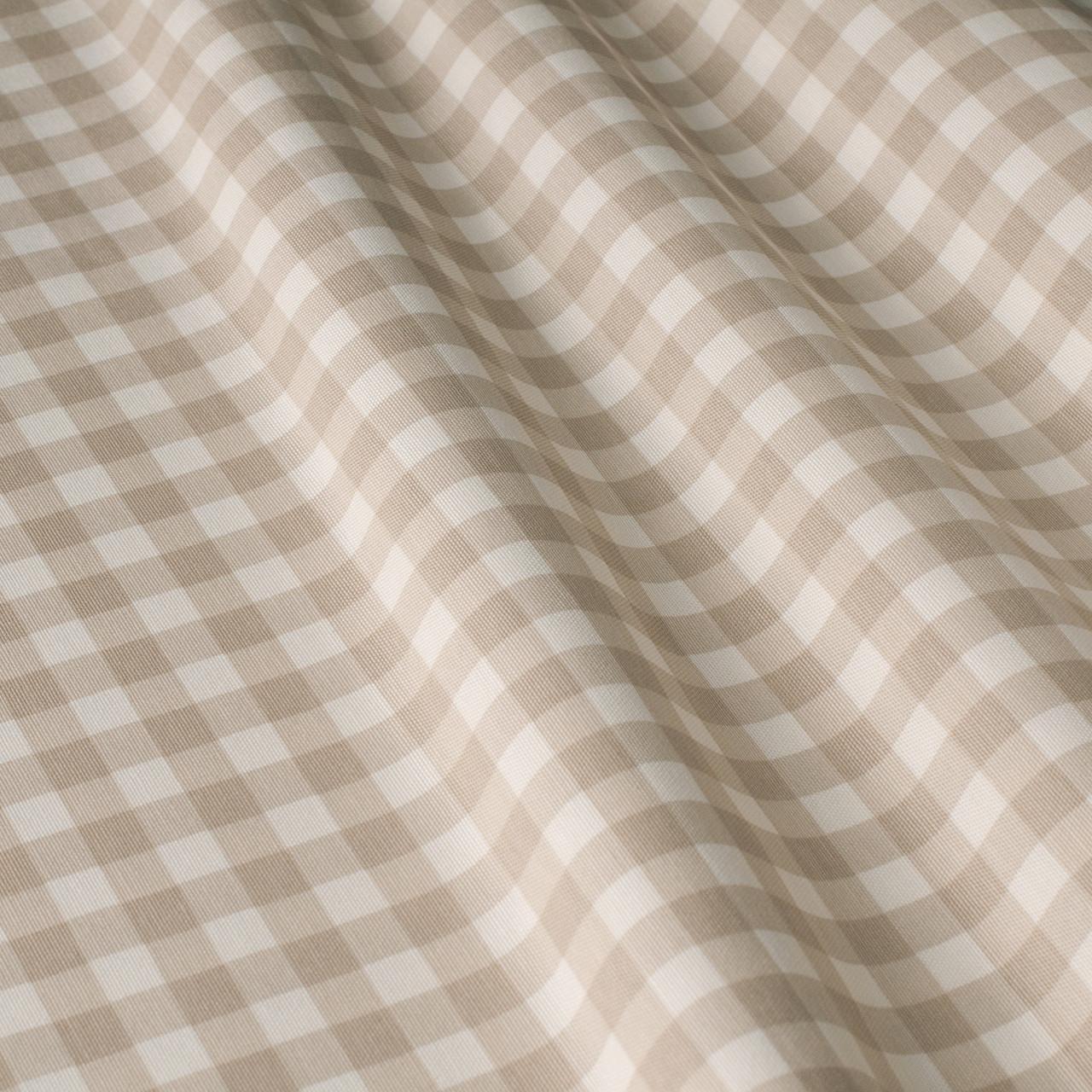 Декоративная ткань в мелкую клетку бело-бежевого цвета Турция 84581v35