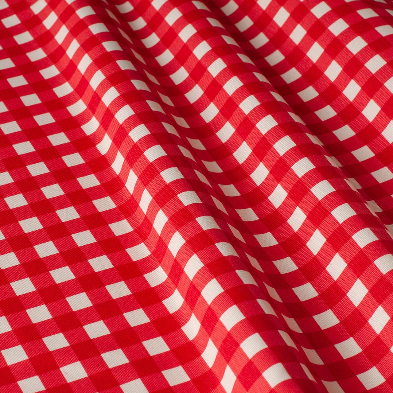 Декоративная ткань в мелкую клетку красно-белая Турция 180 см 84578v32