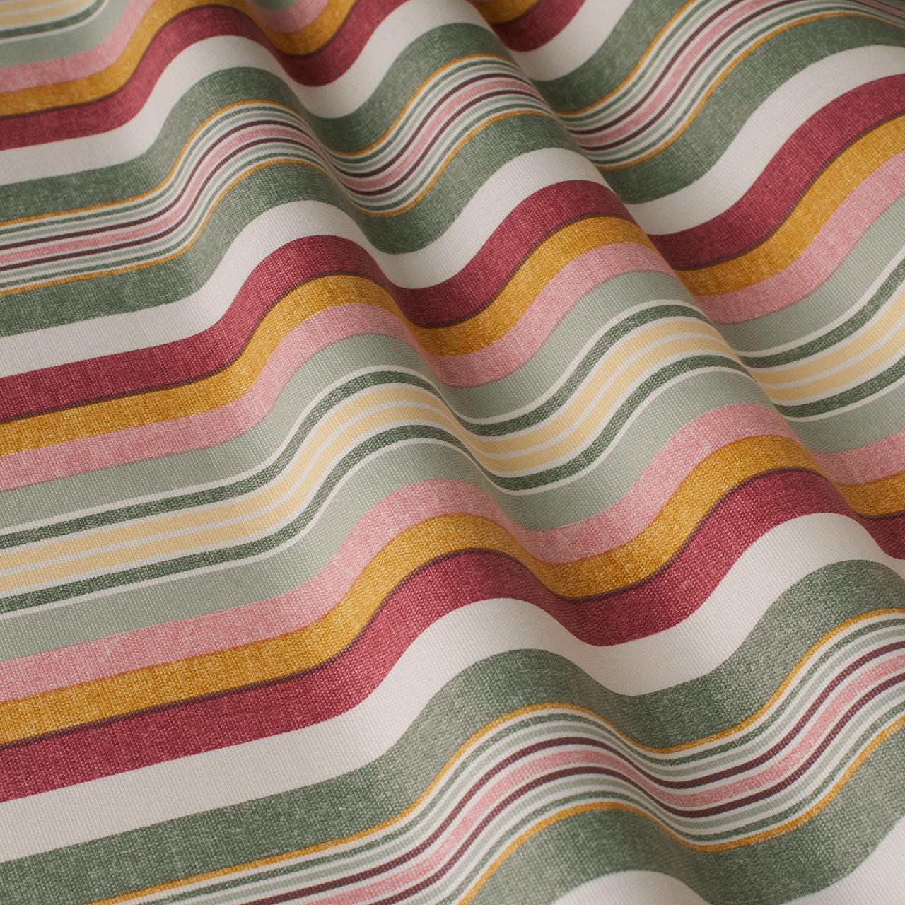Декоративная ткань в полоску серо-желтого цвета Турция 84611v7