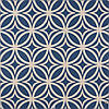Декоративная ткань белые круги с узорами на синем фоне Турция 84588v28, фото 2