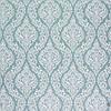 Декоративная ткань белые узоры на голубом фоне Турция 84586v7, фото 2