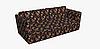 Декоративная ткань оранжевые и бордовые цветы на черном 180см 84497v1, фото 3
