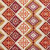 Декоративная ткань пэчворк бордового и оранжевого цвета 180см 84495v2, фото 2